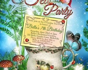 Garden Tea Party Invitation, Tea Party Invitations, Tea Parties, Garden Tea Invitations, Party Invitations