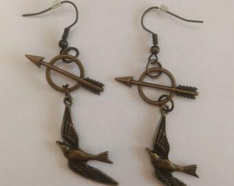 Hunger Games Inspired Earrings