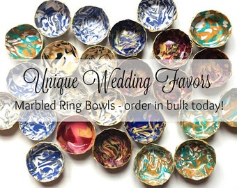 Bulk Gifts- Wedding Favors - Bachelorette Party Favors - Bridal Party Decor - Party Gifts for Guests - Party Decorations - Marbled Ring Dish