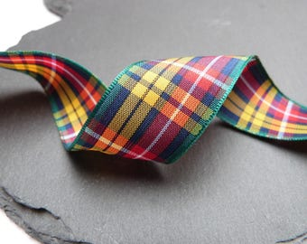 Buchanan Scottish Tartan Ribbon 25mm Wide Berisfords Per Metre