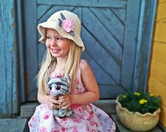 Crochet Sun Hat, Girls Sun Hat, Girls Summer Hat, Crochet Summer Hat, Kids Hat, Kids Summer Hat, Toddler Hat, Cotton Hat, Cotton Summer Hat