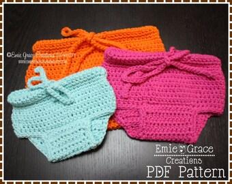 Crochet Diaper Cover Pattern, BASIC - pdf 713