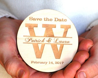 Wood Save the Date Magnets Personalized Save the Date Postcards Rustic Wedding Save the Date Magnet Wood Bridal Shower Invitation Magnetic