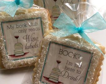 Book Club cookie favors--1 Dozen