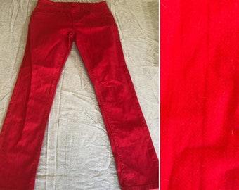 Racing Red Capri Pants