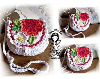 Crochet PATTERN, Crochet bag pattern, Crochet Purse, Purse for girls, DIY Pattern 40