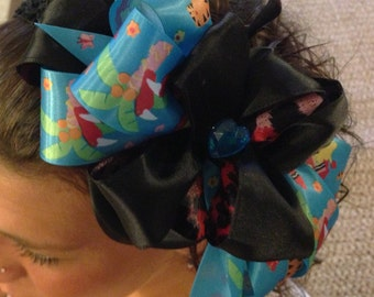Zoo Hairbow Black Headband Animals Toucans Tiger Hair BOW Stretch Band!