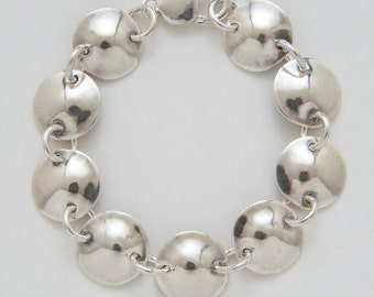 Circles Bracelet made from Vintage Silver American Dimes
