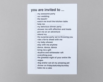 Check It Card - You Are Invited To ...