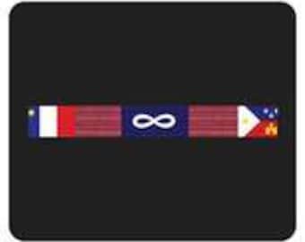 Metis Acadian Cajun Banner Mouse Pad Computer Accessory Indigenous Native American