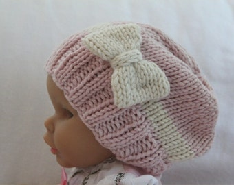 Baby KNITTING PATTERN- Baby Girl Slouchy Hat (6 months- 4 years) PDF knitting pattern