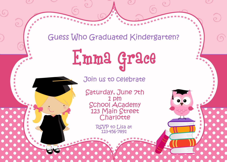Kindergarten graduation invitation graduation preschool zoom stopboris Images