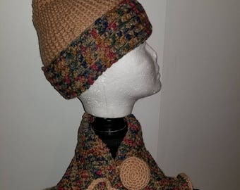GORGEOUS CAP with Matching Neck Cozie