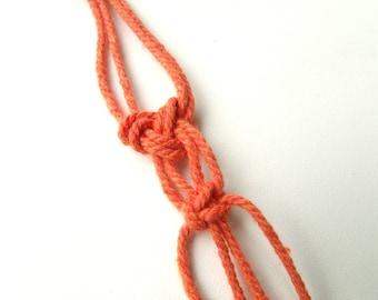 10 m macramé Twine O Orange cotton cord rope 2mm