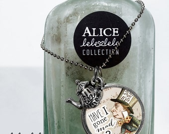 Necklace with Mad Hatter pendant  - Alice in Wonderland Collection
