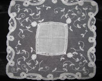 Antique Lace Hankie Ivory Hankerchief Lace Hankies Hankerchief