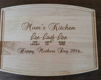 Custom Maple Cutting Board kitchen wedding mothers day Christmas gift
