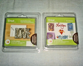 Cricut Cartridge - 2 Cartridges - Classically Modern Cards AND Beyond Birthdays - Brand New and Sealed