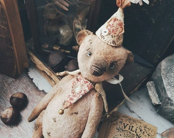 Artist teddy Bear, Stuffed Animal Bear, OOAK teddy bear, vintage toy, collection teddy, handmade teddy, teddy, teddy bear, cute toy soft toy