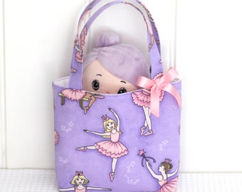 Mini Tote Bag / Girls Bag / Kids Bag / Girls Purse - Sparkle Ballerina