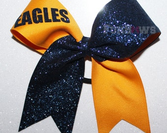 Glitter Team Bows - Custom  wording and colors By FunBows !