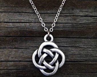 Celtic Eternity Knot Necklace | Celtic Jewelry | Irish Jewelry | Scottish Jewelry | Handcrafted Jewelry | Fine Pewter by Treasure Cast