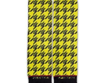 Function - Yellow Houndstooth Fashion Socks
