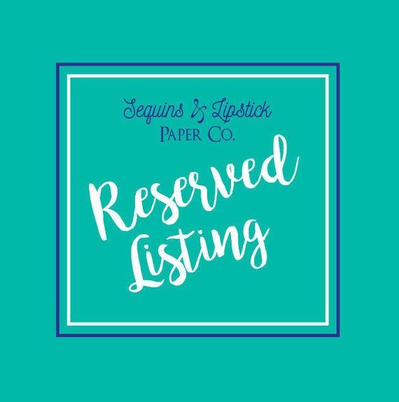 Reserved Listing, Christine van der Kieft
