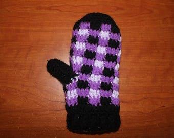 Fleece Lined Mittens! - Plaid #2