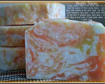 Beach Daisies - Rustic Suds Natural - Organic Goat Milk Triple Butter Soap Bar - 5-6oz. Each