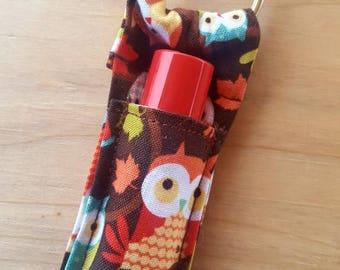 Owl Lip Balm Keychain, Lip Balm Case, Pouch for lipstick, Lip Balm Carrier