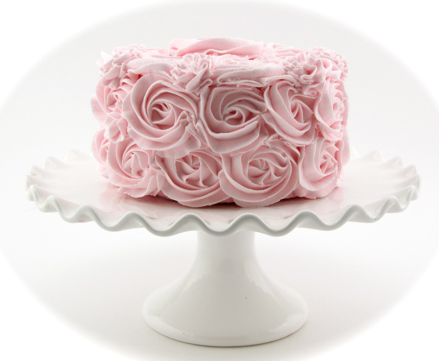 Rosette Fake Cake Pink Frosting Approx 675w X 4h