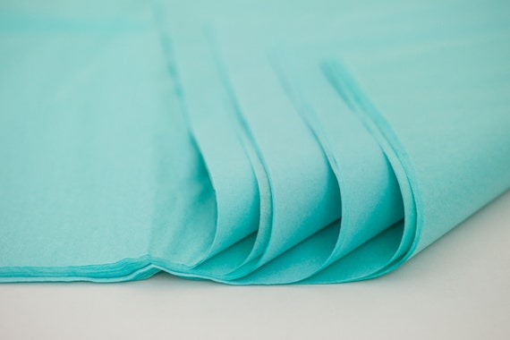 aqua tissue paper Look for colored tissue paper in various sizes and quantities that can withstand cutting, crinkling and folding without tearing, as well as those with technology that resists color-bleed, making it perfect for creating tissue paper centerpieces that survive the day and beyond.