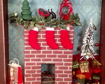 Christmas Eve shadowbox