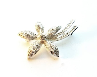 Vintage Napier Silver Marcisite Shooting Star Pin Brooch