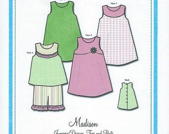 Bonnie Blue Pattern #137 / MADISON / Sizes 12 mo - 4 yr and 5 yr - 8 yr
