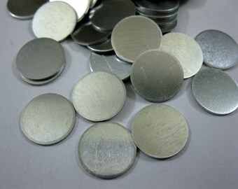Aluminum 1/2 Inch Discs, 20 Gauge Aluminum Stamping Blanks, Set of 10, Ready to Ship!