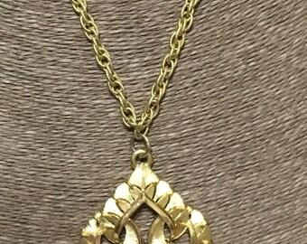 Vintage Crown Trifari necklace 1960's statement charm necklace