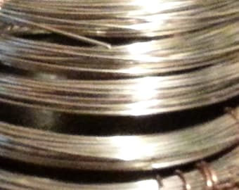 22 gauge Nickel Silver - 25 feet dead soft round wire
