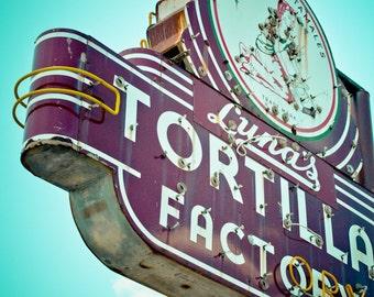 Dallas Texas Neon Sign Vintage Retro Roadside - Fine Art Photograph - Luna's Neon