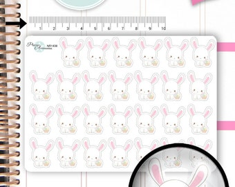 Easter Stickers  Bunny Stickers Rabbit Stickers Cute Stickers Kawaii Stickers Planner Stickers Erin Condren Functional Stickers NR1438