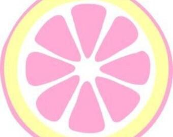 Pink Lemon Wooden Door Hanger