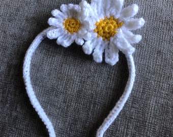 Daisy Rose crochet headband Customisable