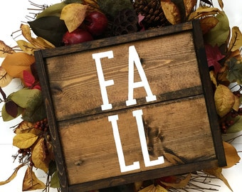 Fall Handcrafted Wooden Sign // Rustic Fall Sign // Farmhouse Fall Sign // Farmhouse Fall Decor // Hand Painted Wood Sign // Fall Decor