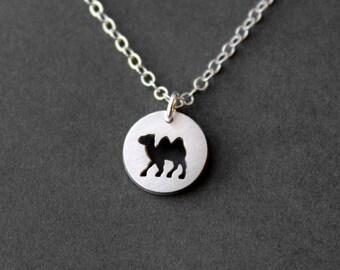 Handmade Tiny Sterling Silver Camel Necklace - Handcrafted Silver Jewelry - Silver Necklace - Camel