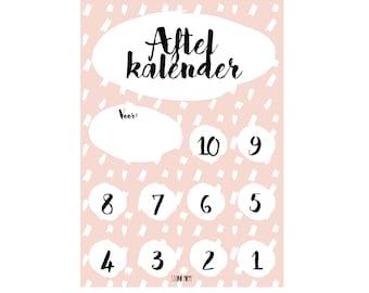 Aftelkalender Roze