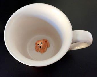 Golden Retriever Female dog - Surprise animal mugs, animal cups, coffee mugs with animals inside, creatures inside mug, DOG in cup, birthday