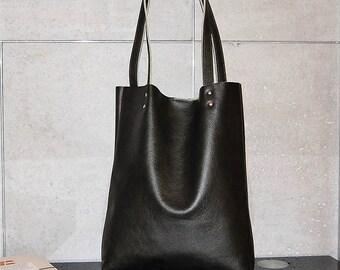 Bag, Shoulder Bag, Handbag, Leather Tote Bag, Shopper Bag, every day bag, Large Tote Bag, Handmade, Oversized bag , Green Bag