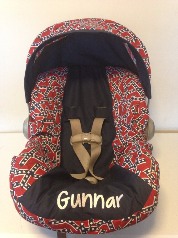 Items similar to CONFEDERATE FLAG fabric REBEL infant car Seat Cover