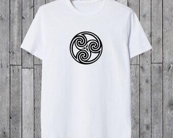 TRISKELE Tee CELTIC  TRISKELION Tshirt Men's Women's Tee Gift For Mythology Celtic Lover Viking Era T Shirt Celts Myth Magic T-Shirt